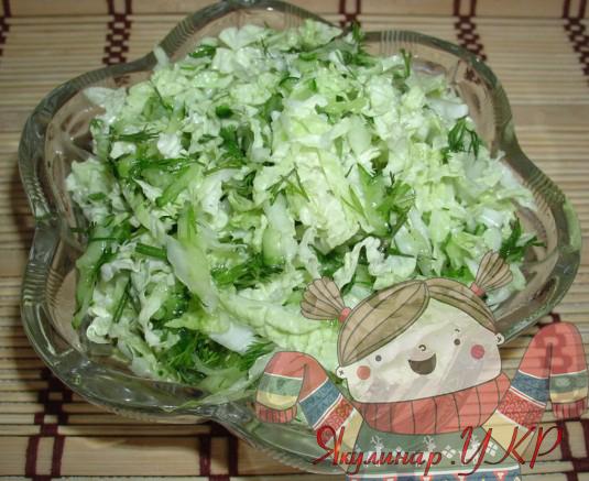 Приготовление салатов из пекинской капусты с